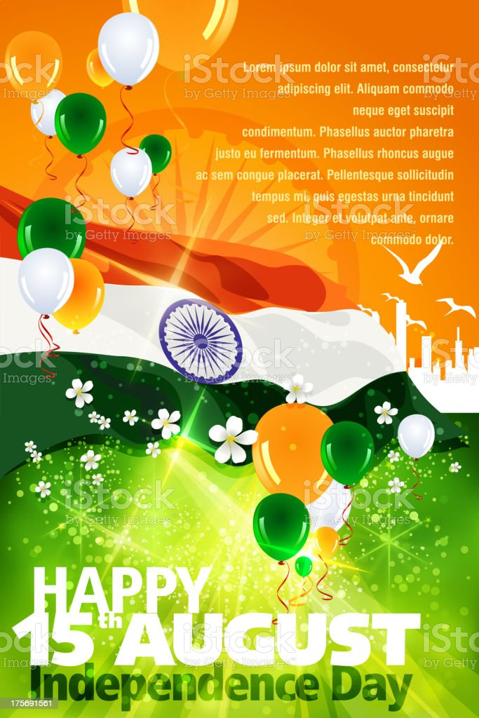 Independence Day Celebration of India vector art illustration