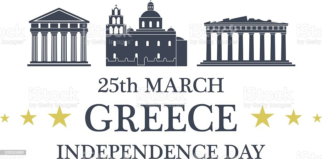 Independence Day. Greece vector art illustration