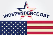 Independence day greeting card, flyer. Independence day poster.