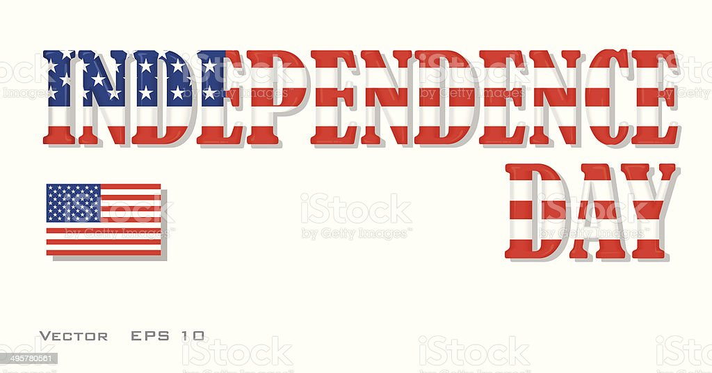 Independence day – inscription. royalty-free stock vector art