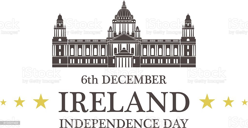 Independence Day. Ireland vector art illustration