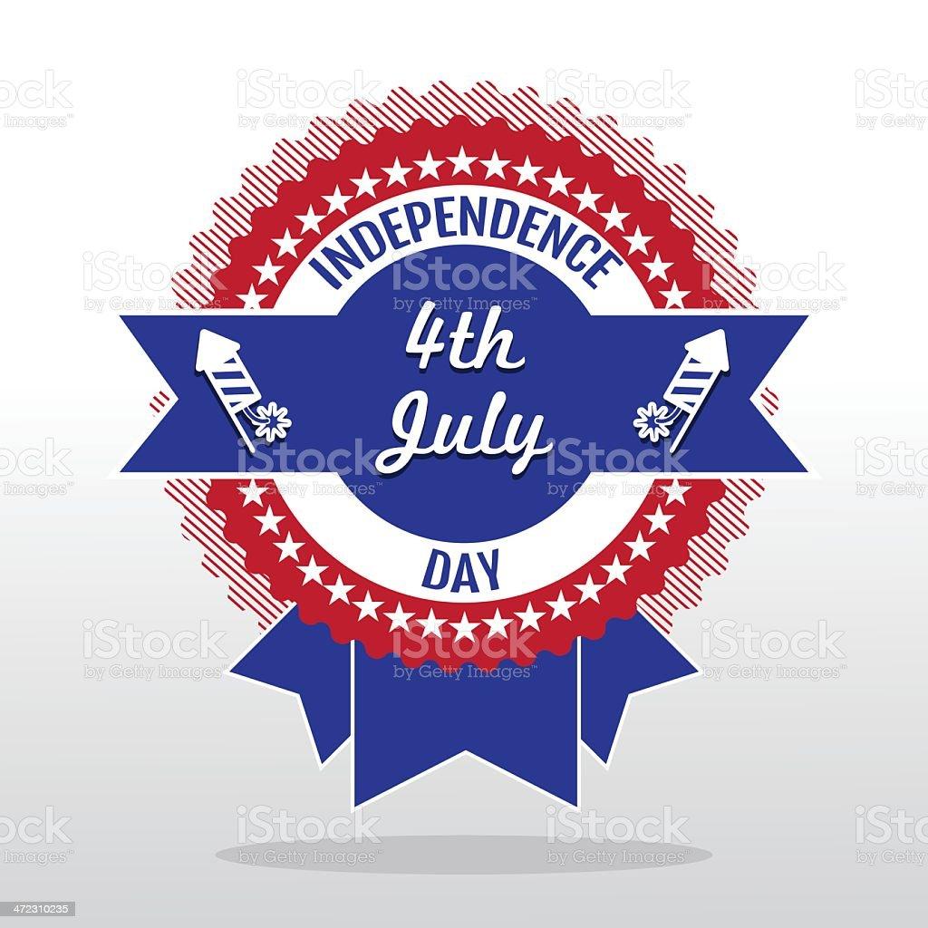 Étiquette de jour de l'Indépendance stock vecteur libres de droits libre de droits