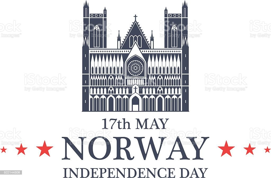 Independence Day. Norway vector art illustration