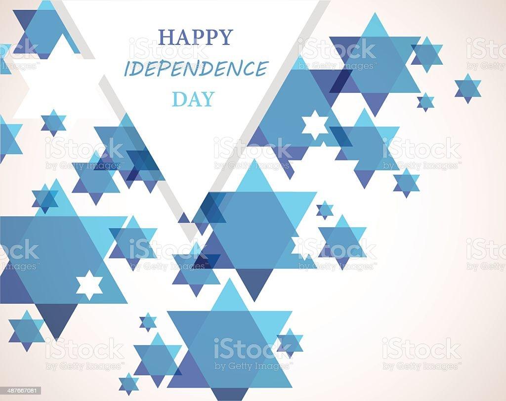 Independence day of Israel. David star background. illustration vector art illustration