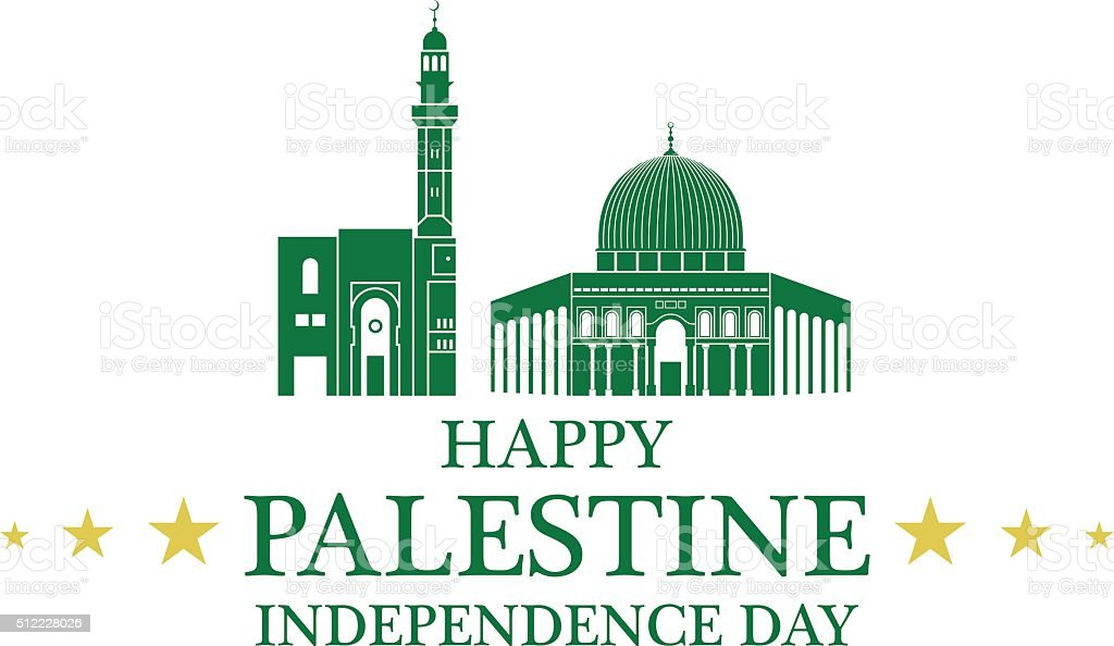 Independence Day. Palestine vector art illustration