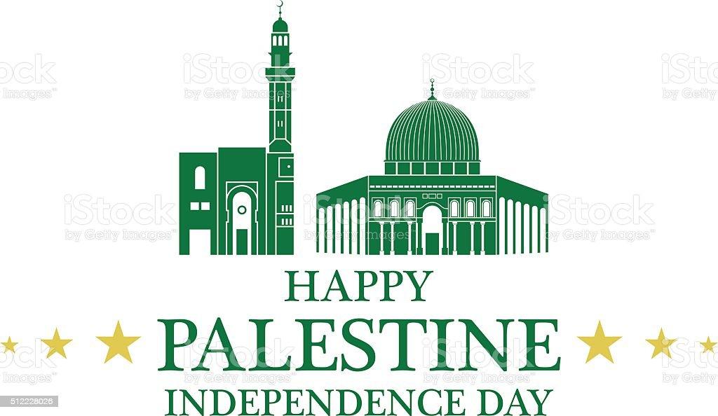 Independence Day. Palestine vector art illustration