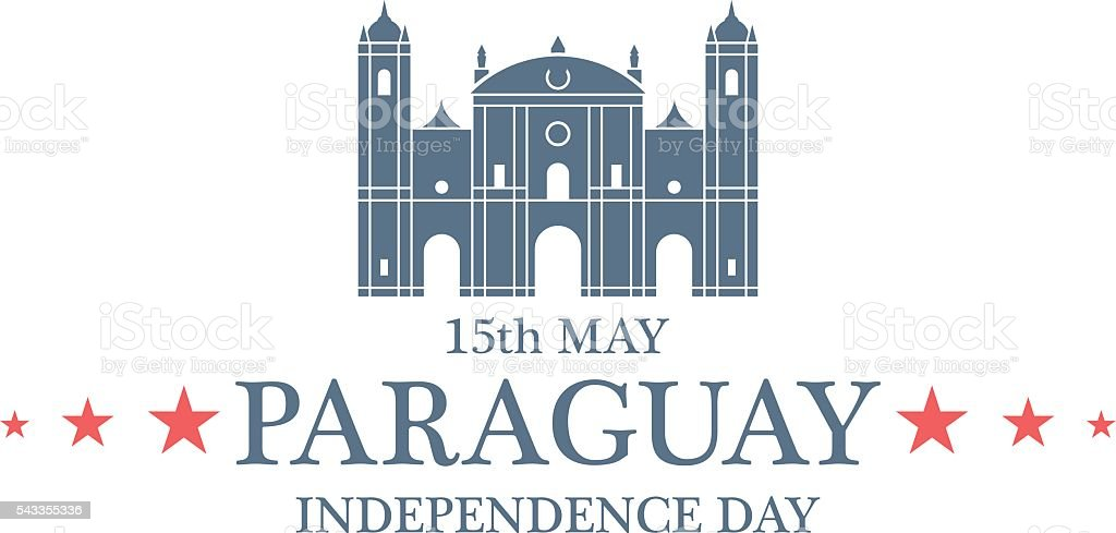 Independence Day. Paraguay vector art illustration
