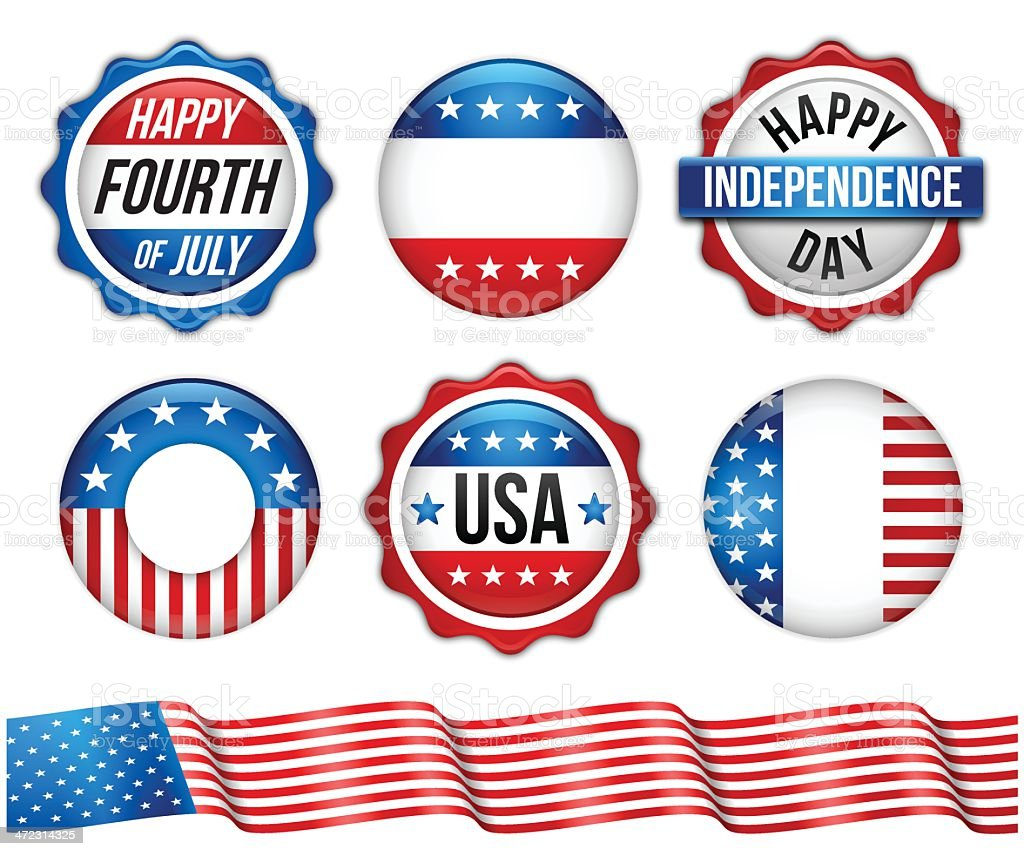 Independence Day Patriotic Elements royalty-free stock vector art