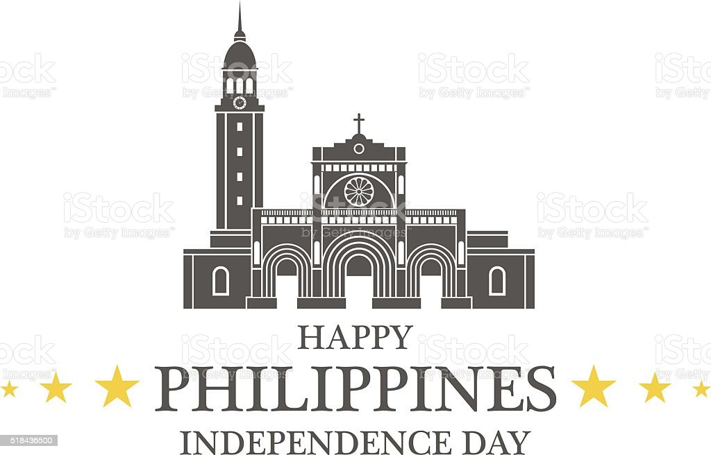 Independence Day. Philippines vector art illustration