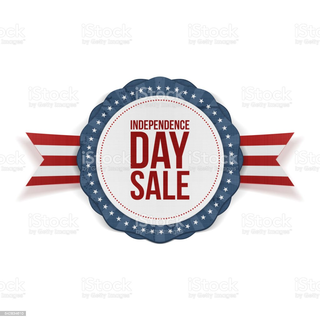 Independence Day Sale realistic Banner vector art illustration
