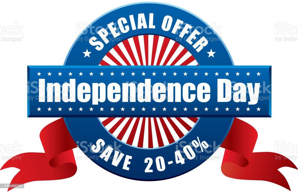Independence day sale symbol vector art illustration