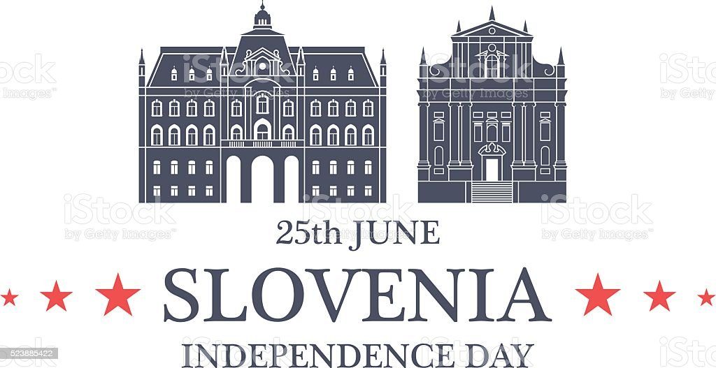 Independence Day. Slovenia vector art illustration