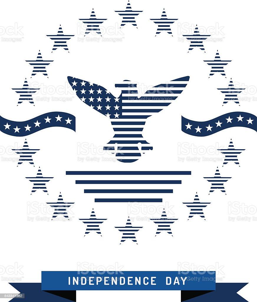 independence day USA background vector art illustration