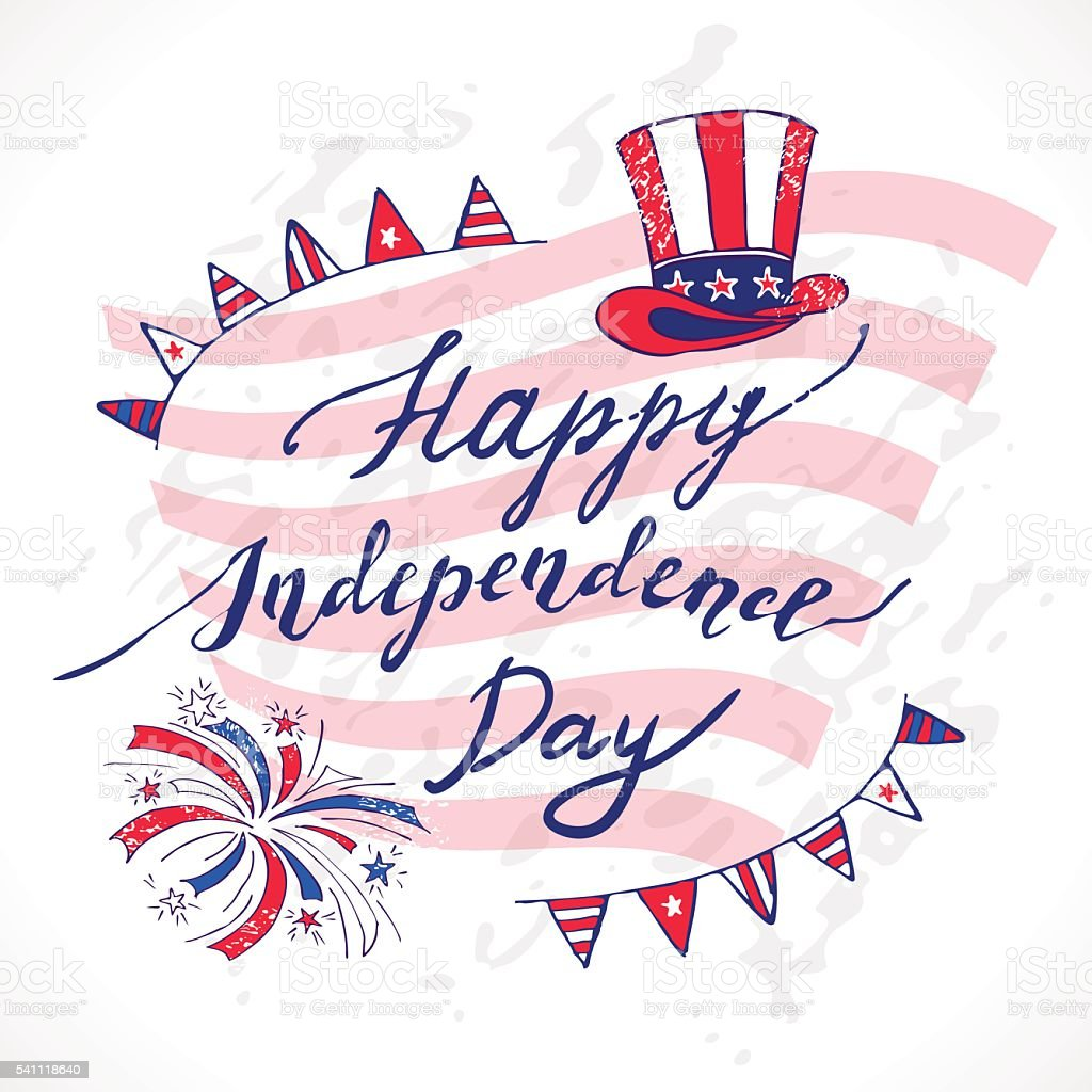 USA Independence Day vector art illustration