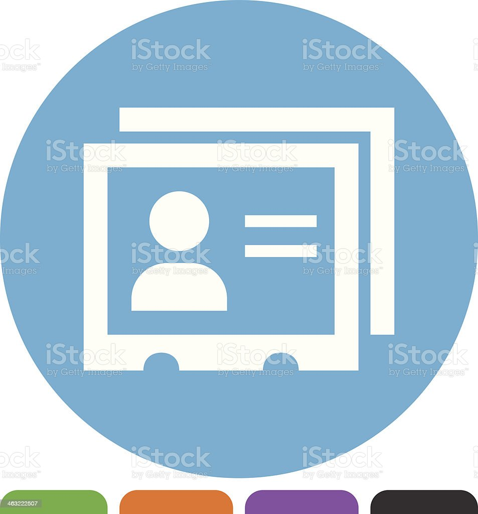 Index Cards icon vector art illustration