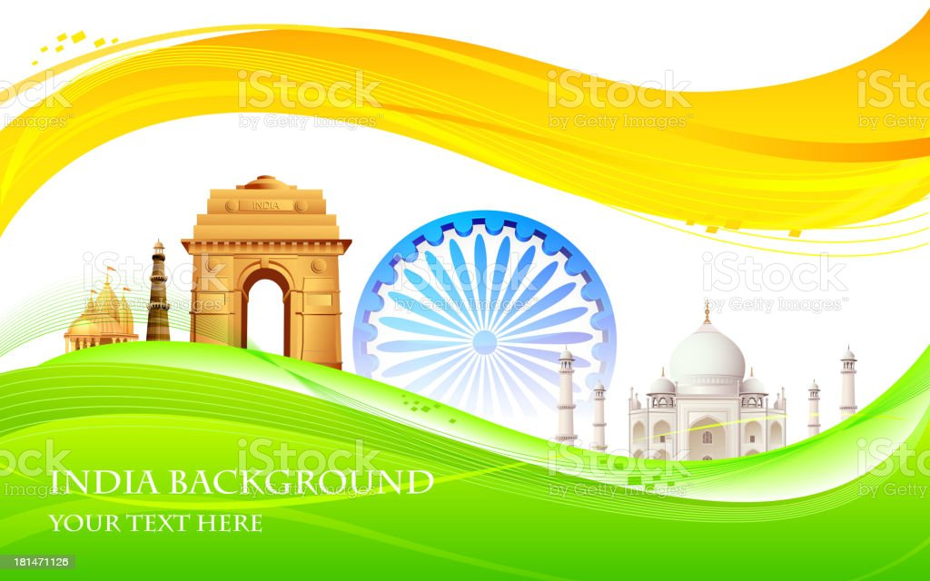India Background royalty-free stock vector art