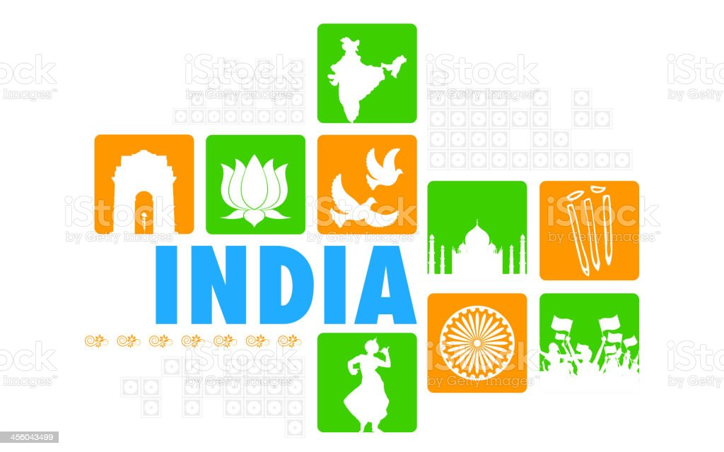 India Background vector art illustration