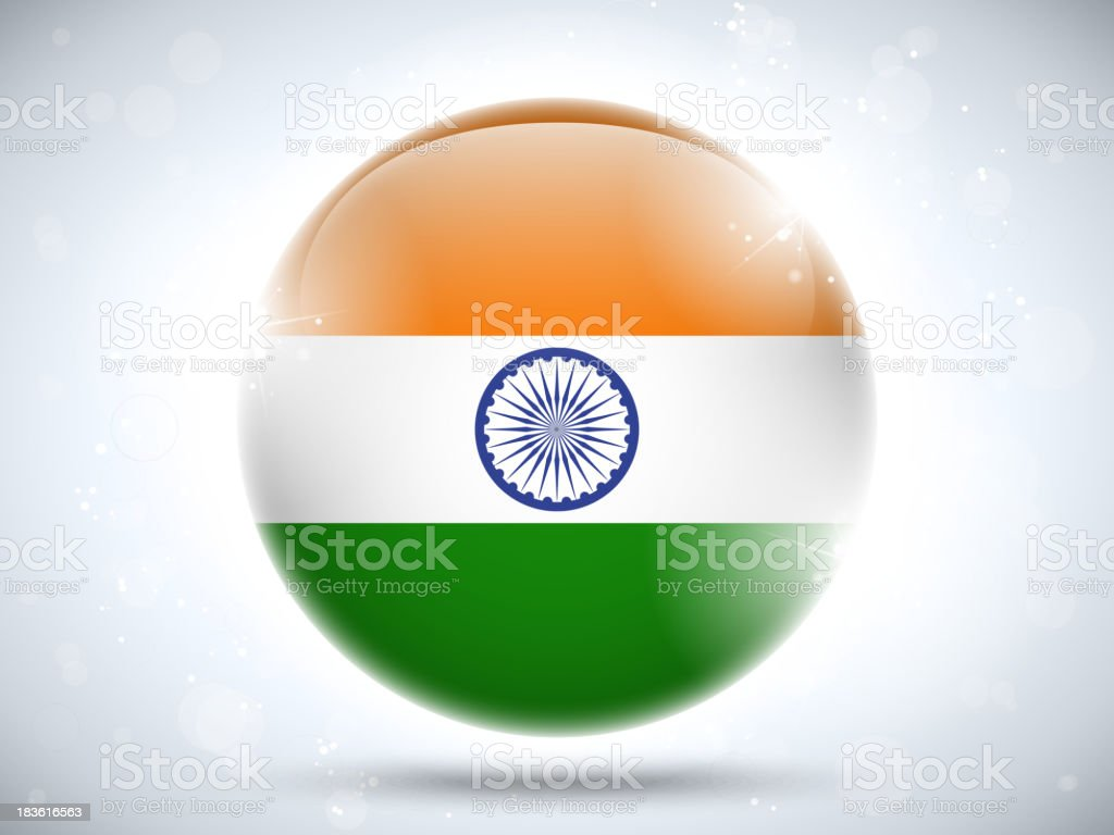 India Country Bubble Icon royalty-free stock vector art
