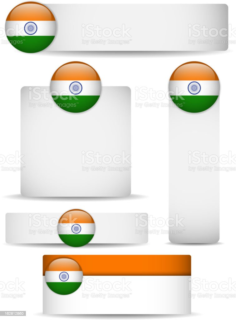 India Country Set of Banners royalty-free stock vector art
