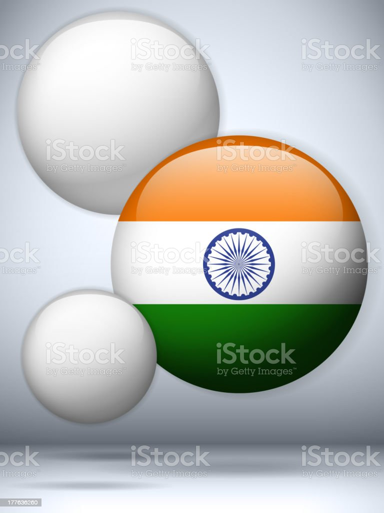 India Country Set of Bubbles vector art illustration