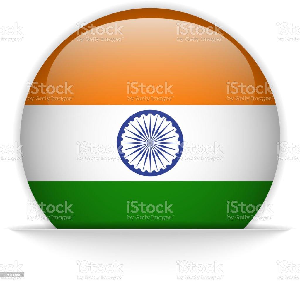 India Flag Glossy Button Hidden royalty-free stock vector art