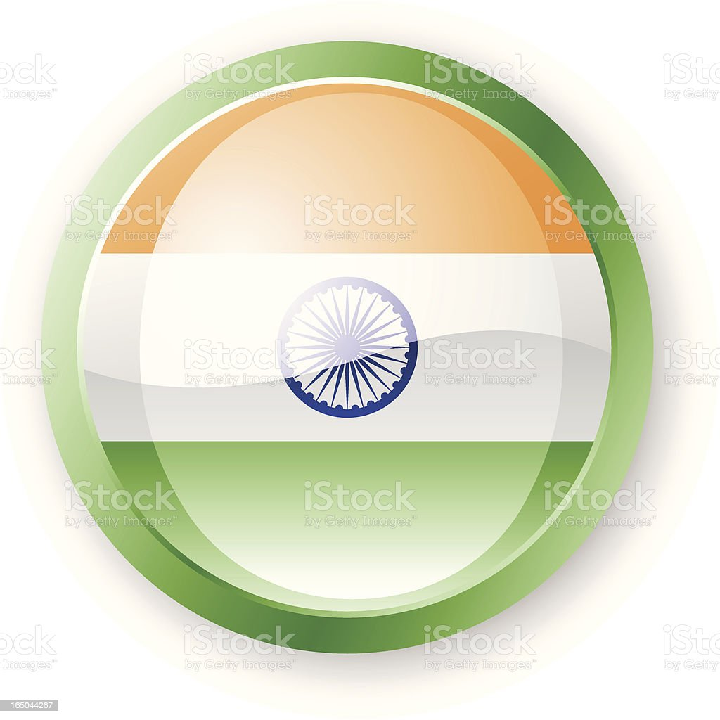 India Flag Icon royalty-free stock vector art