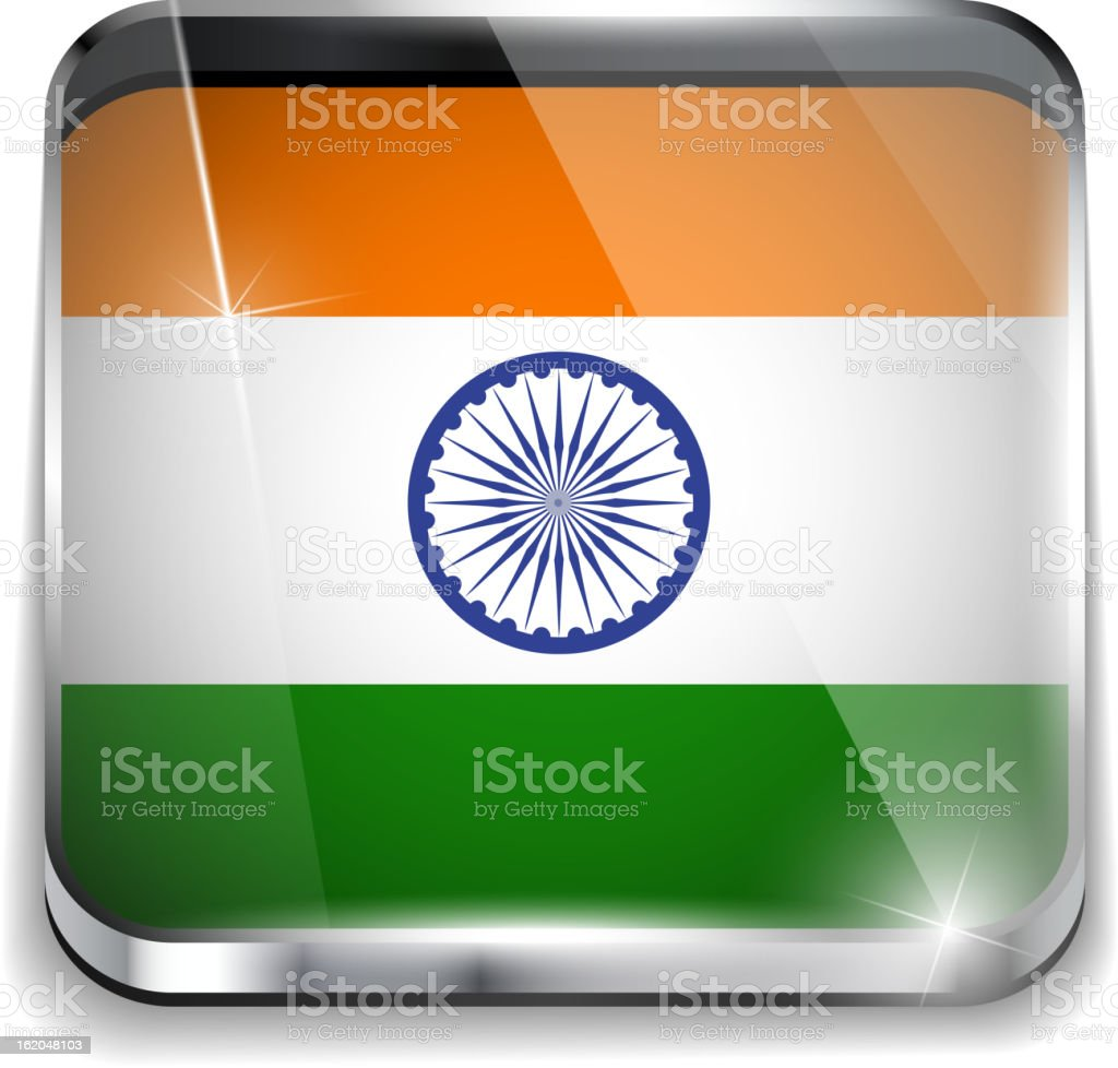 India Flag Smartphone Application Square Buttons royalty-free stock vector art