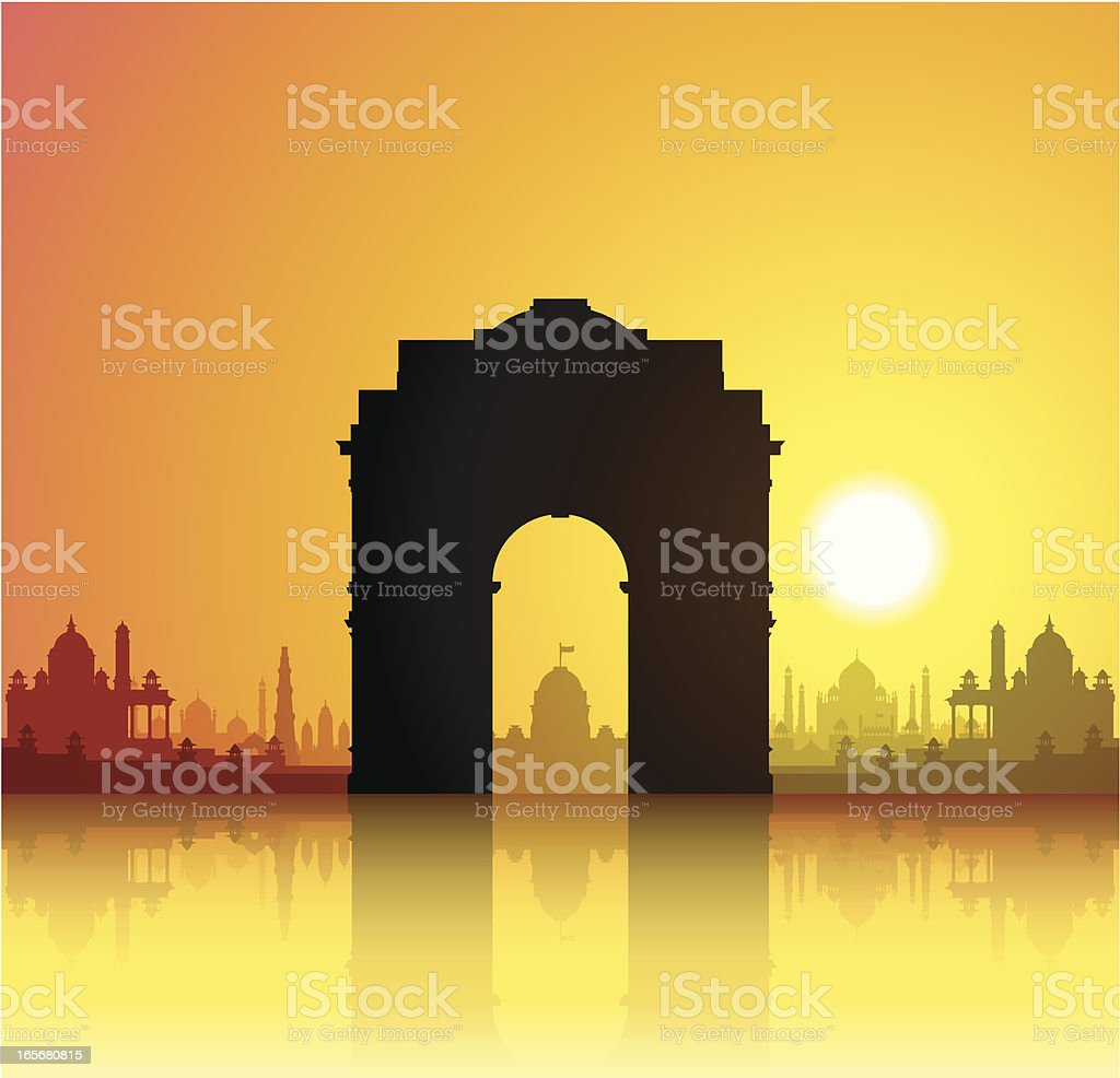 India Gate royalty-free stock vector art