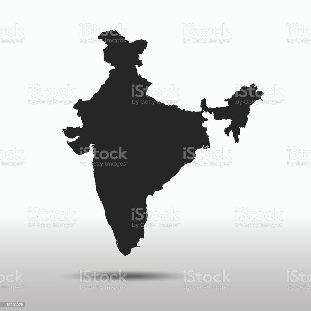 India Map vector art illustration