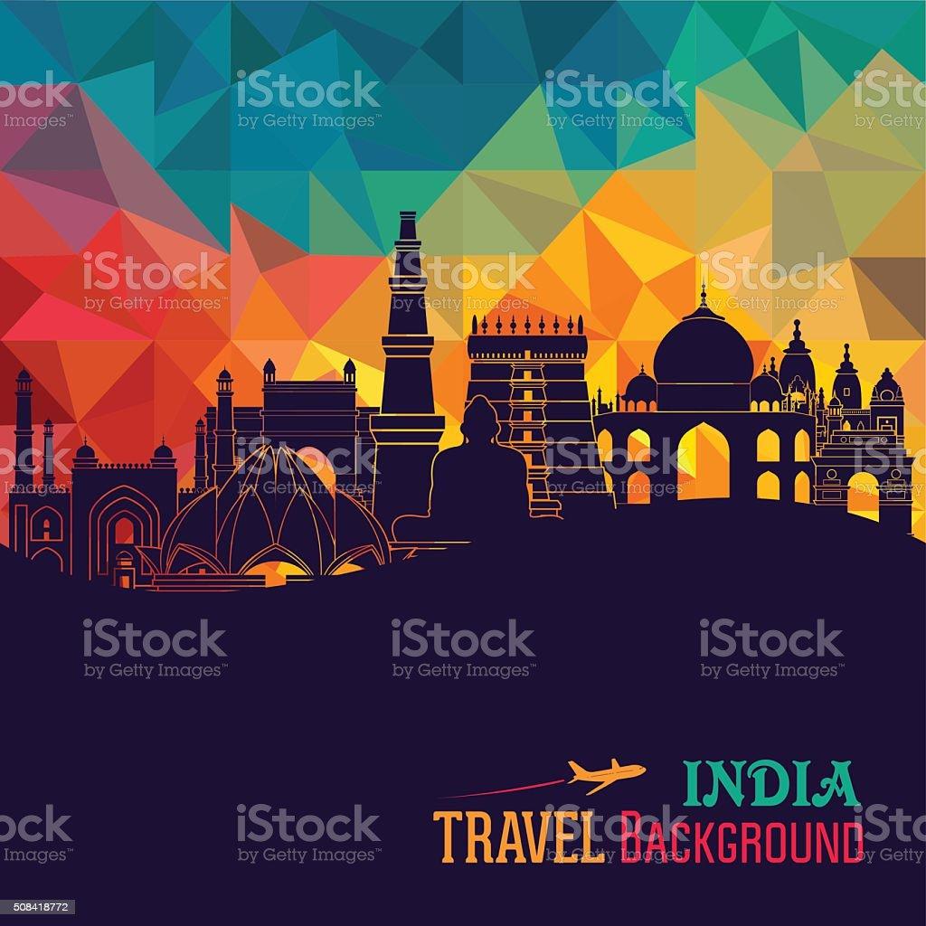 India skyline. Vector illustration vector art illustration