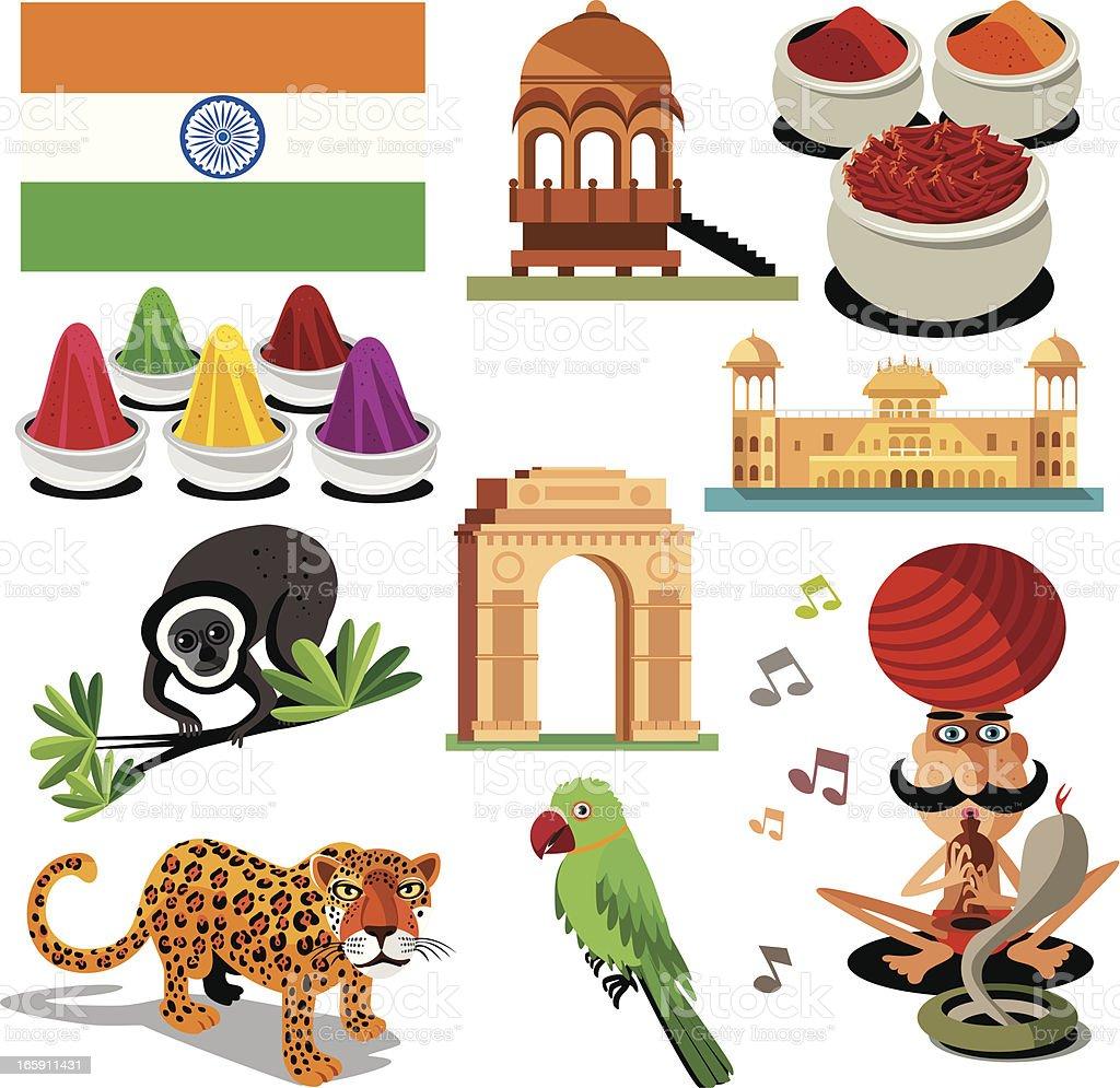 India symbols royalty-free stock vector art