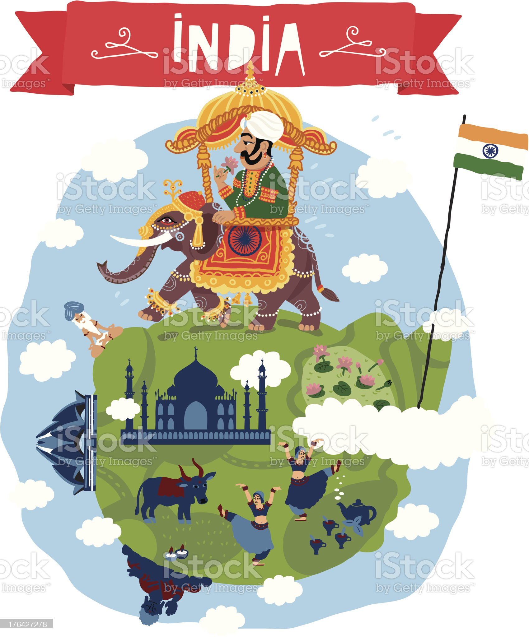 India. Vector icon royalty-free stock vector art
