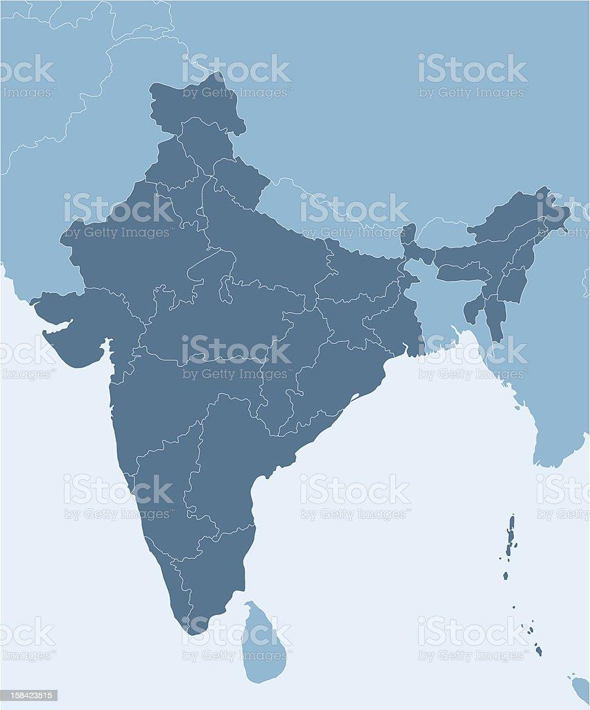 India vector art illustration