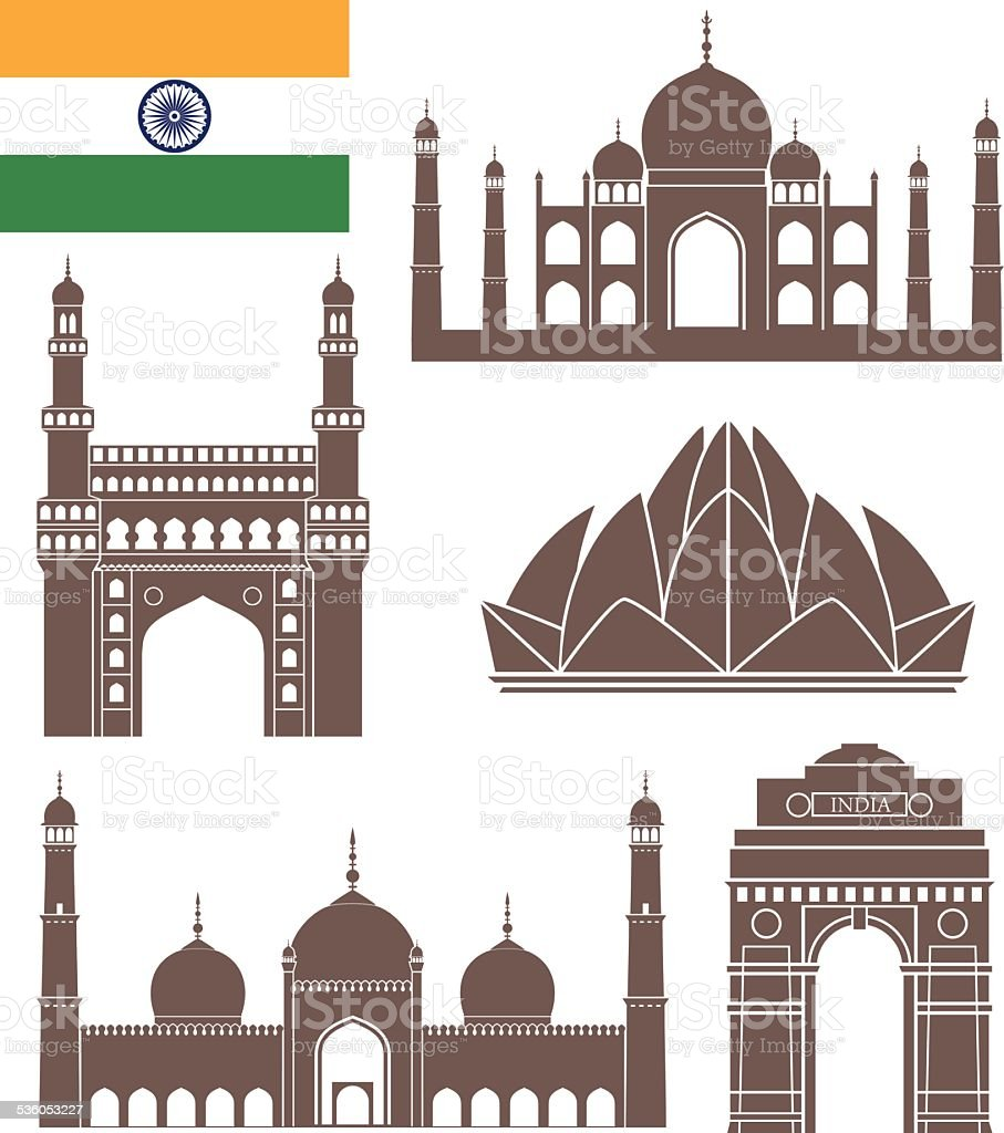 India vector art illustration