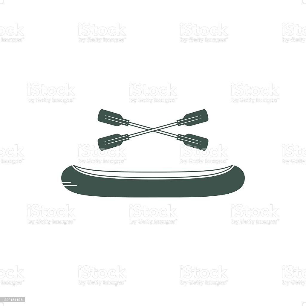 Indian Canoe vector art illustration