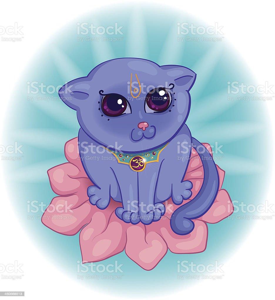 indian cat royalty-free stock vector art