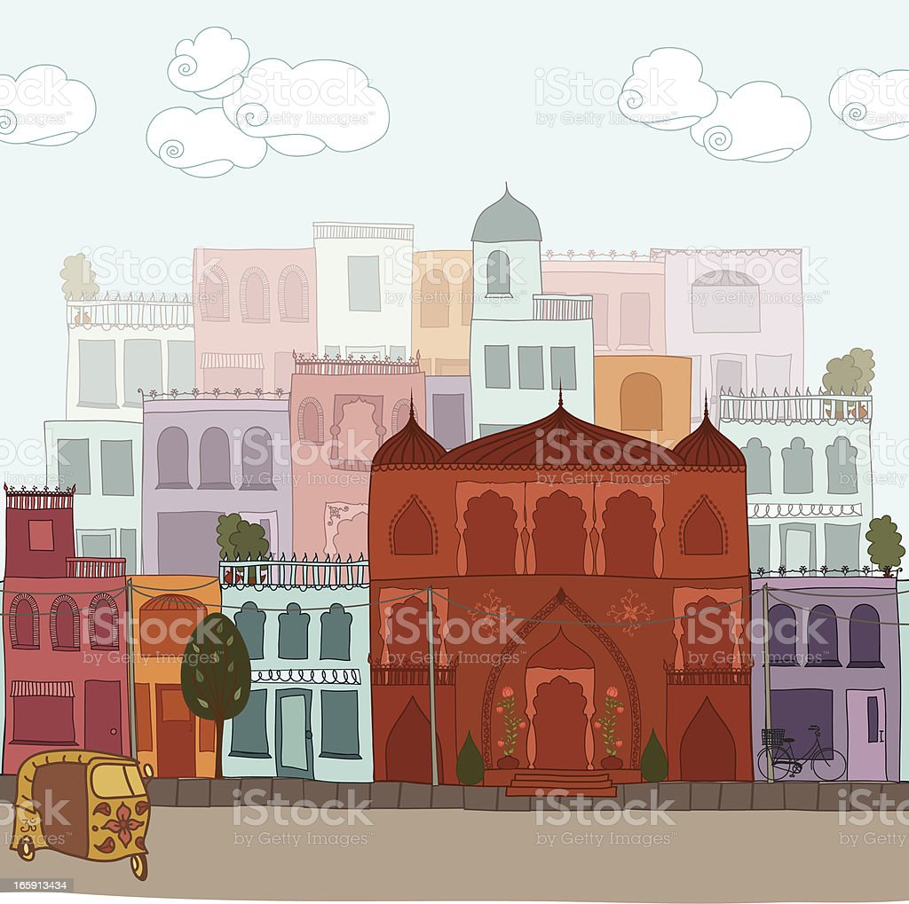 Indian Cityscape royalty-free stock vector art