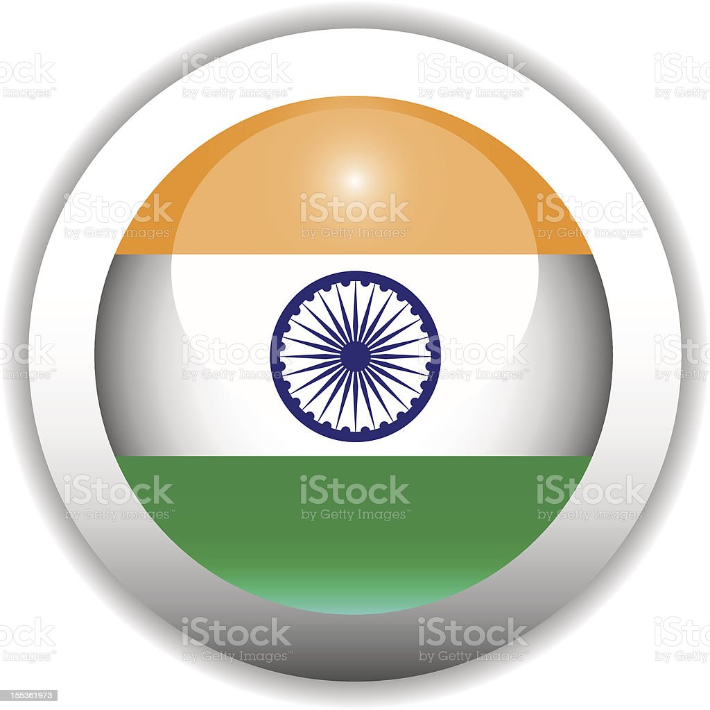 Indian Flag Button royalty-free stock vector art