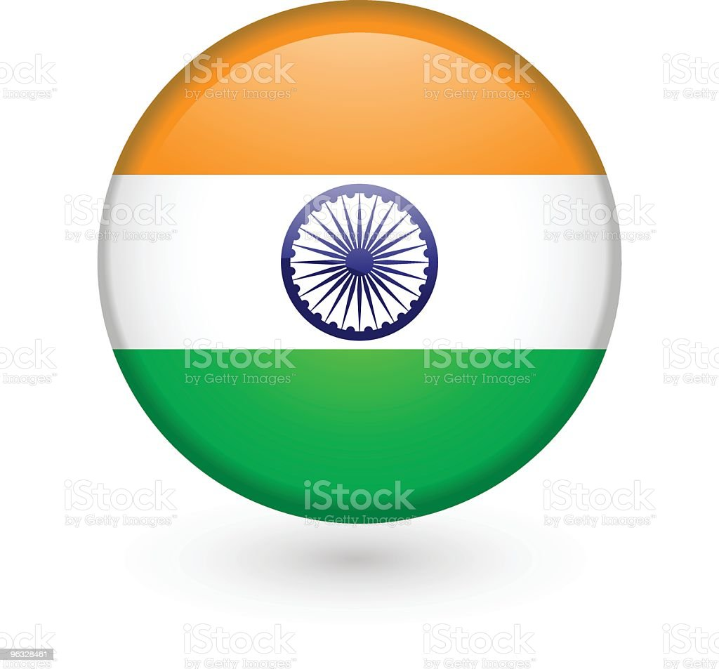 Indian flag vector button royalty-free stock vector art