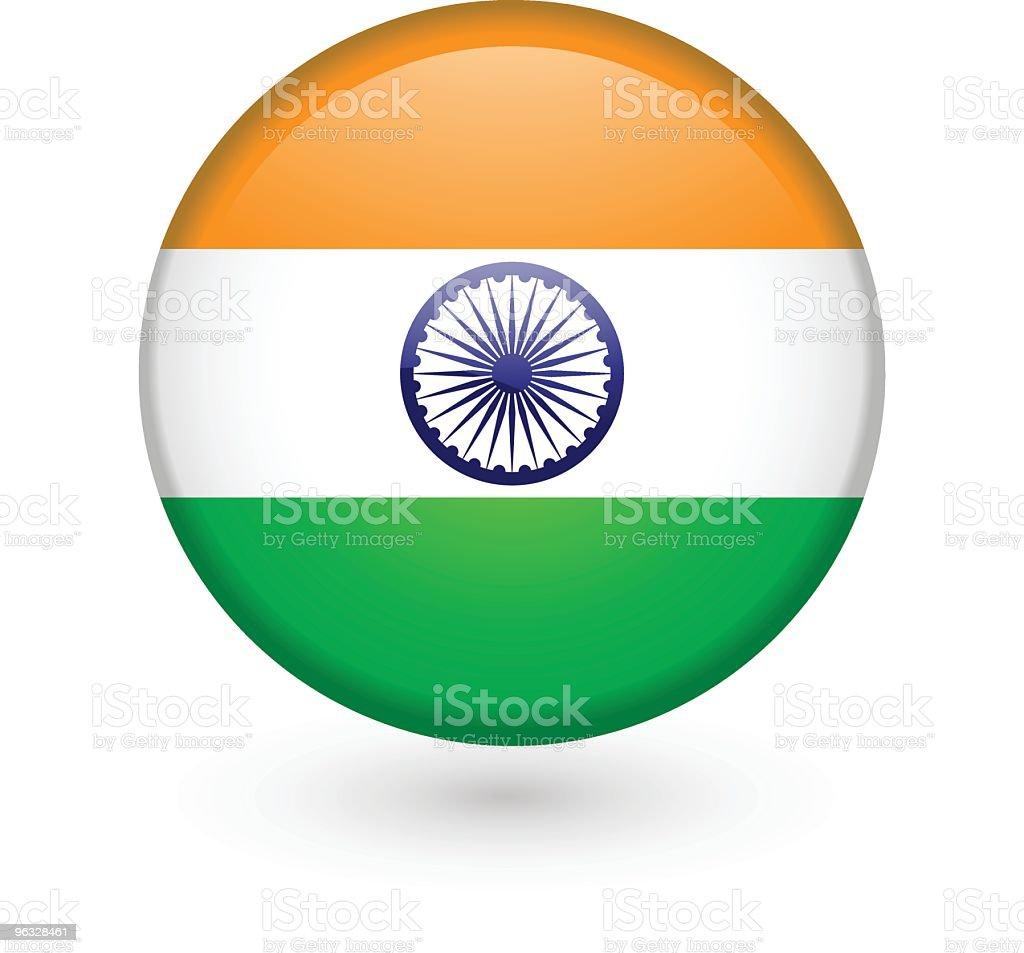 Indian flag vector button vector art illustration