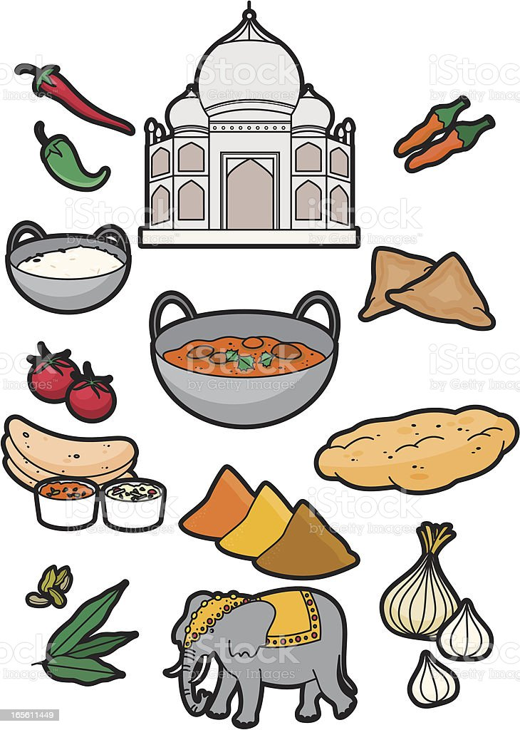 Indian food royalty-free stock vector art