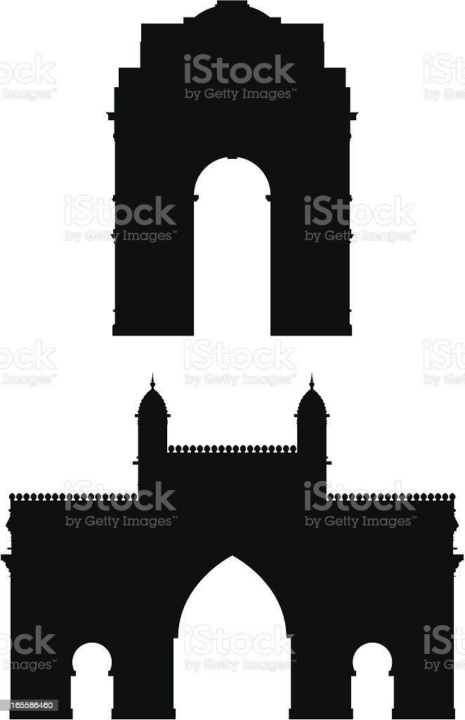 Indian Gates royalty-free stock vector art