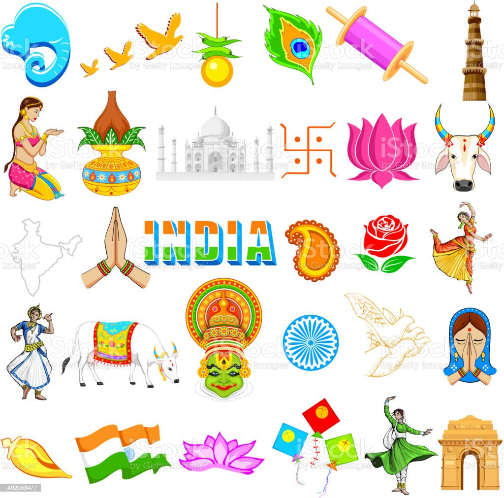 Indian Icon vector art illustration