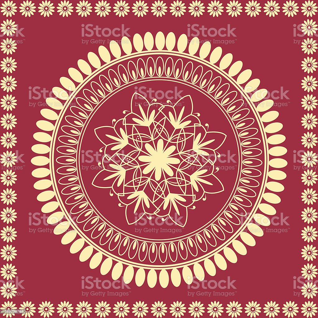 Indian Mandala Design royalty-free stock vector art