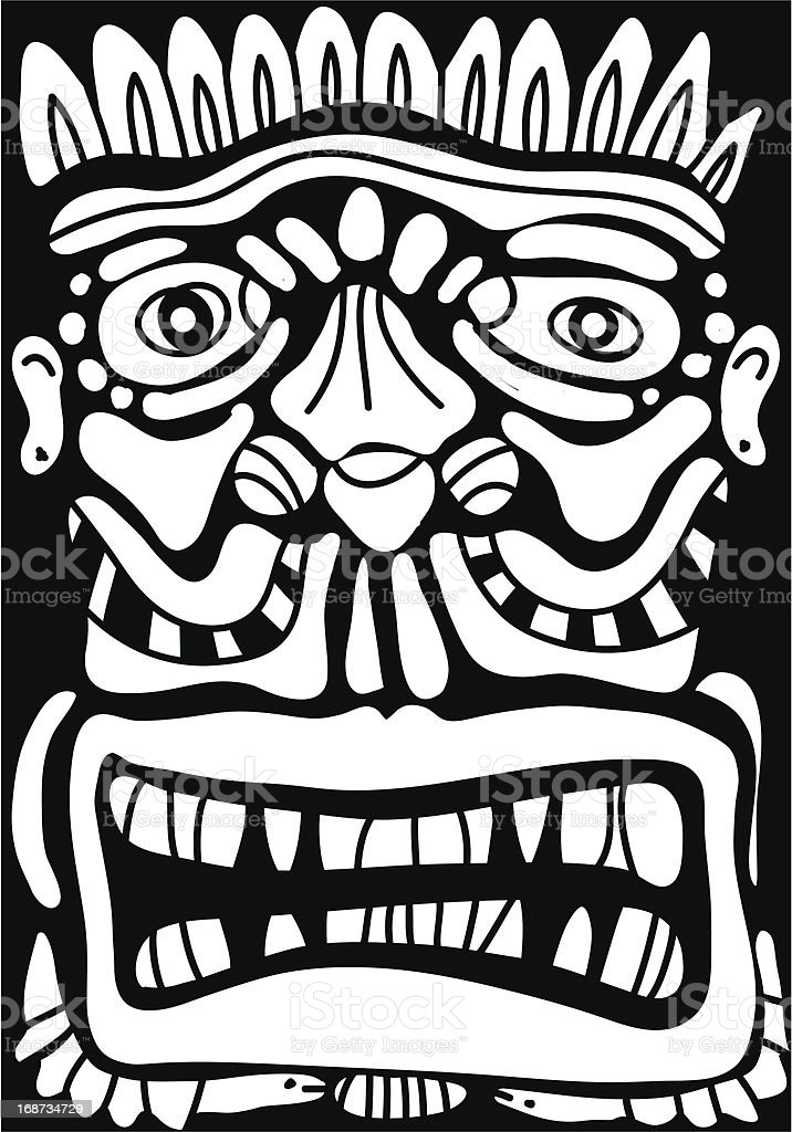indian mask royalty-free stock vector art