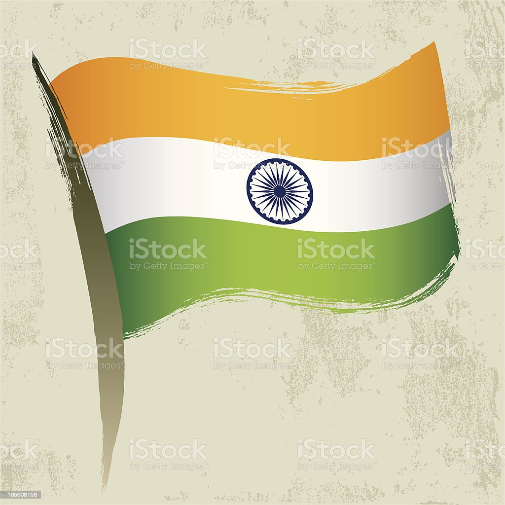 Indian National Flag royalty-free stock vector art