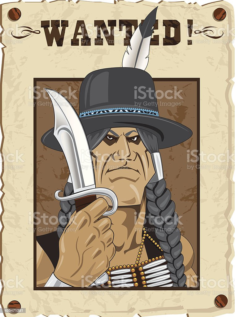 Indian Outlaw royalty-free stock vector art