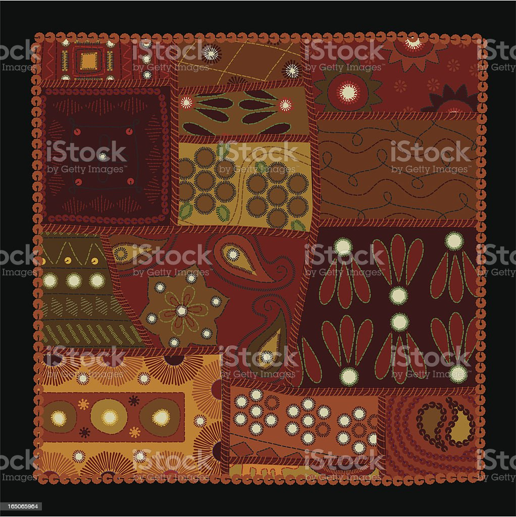 Indian Patchwork (Vector) royalty-free stock vector art