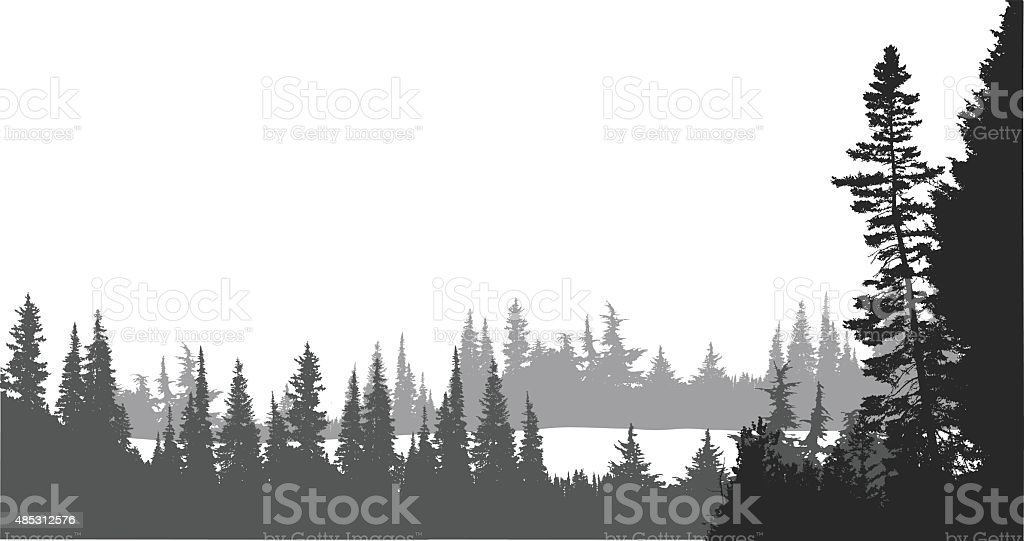 Indian Reserve Lake View vector art illustration