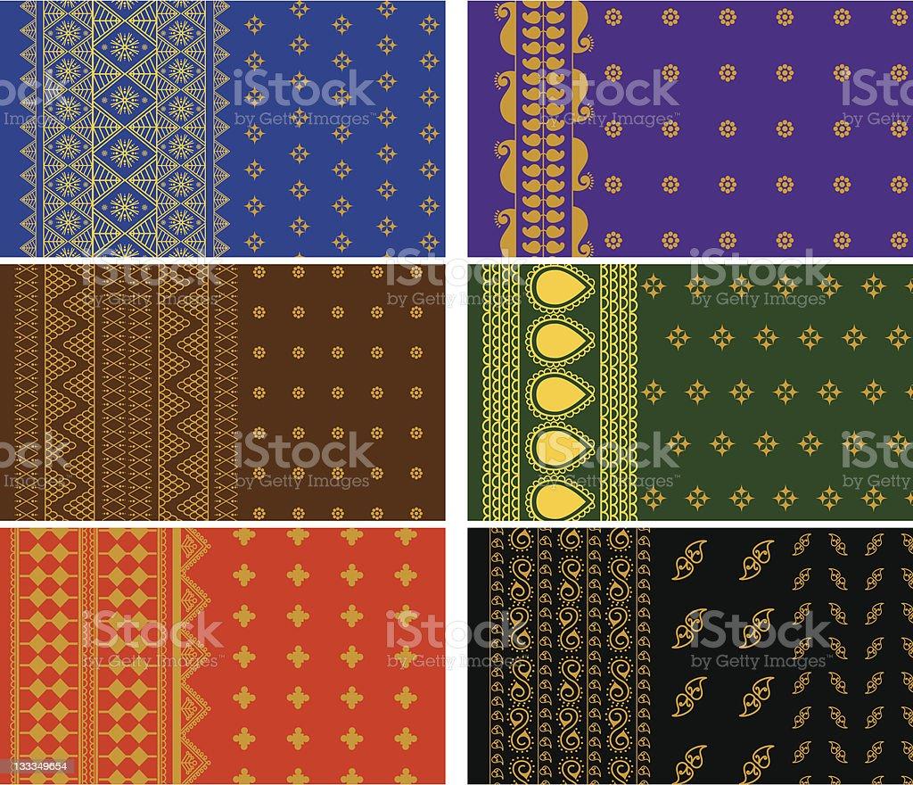 Indian Sari Design royalty-free stock vector art